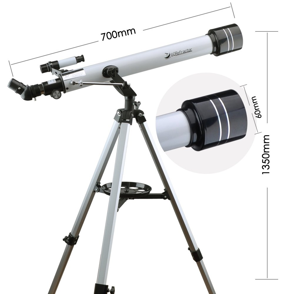 Landove Telescope,60AZ 700mm Travel Scope-Portable Telescope for Beginners and Kids to Observe Moon and View Land-Come with Tripod and 10mm Smartphone Digiscoping Adapter by Landove (Image #3)