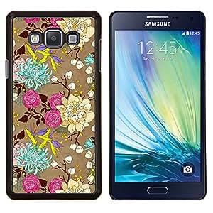 Eason Shop / Premium SLIM PC / Aliminium Casa Carcasa Funda Case Bandera Cover - Flores Rosas Arte Dibujo - For Samsung Galaxy A7 ( A7000 )