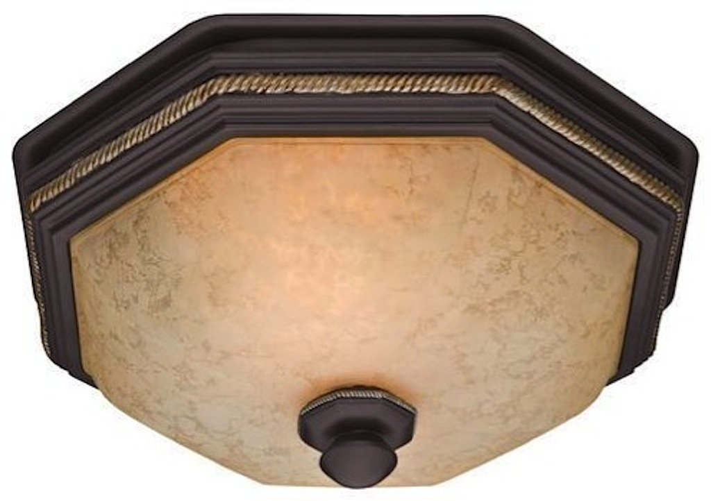 Hunter 82023 Ventilation Belle Meade Bathroom Exhaust Fan and Light with Hand-Painted Snowflake Glass (Bathroom Vent Fan, Exhaust Fan)