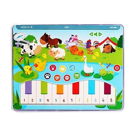 Luces Musicales Teclado de Piano para niños pequeños Juguete de Aprendizaje Educativo temprano para niños Gusspower
