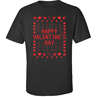 Happy Valentine S Day Ugly Sweater T Shirt Adult Shirt Amazon Com