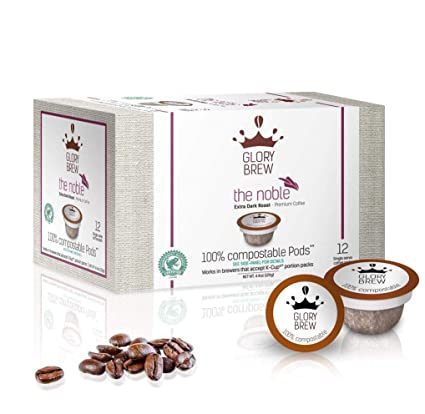 GLORYBREW - The Noble- 72 count 100% Compostable Coffee Pods for Keurig K-Cup