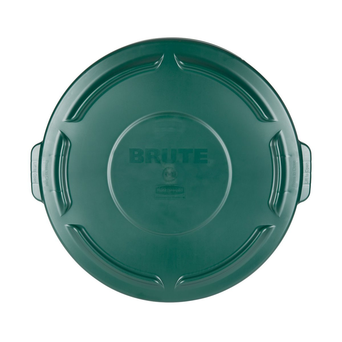 Brute 32 Gal. Green Round Vented Trash Can Lid Case of 6 FG263100DGRN by Rubbermaid
