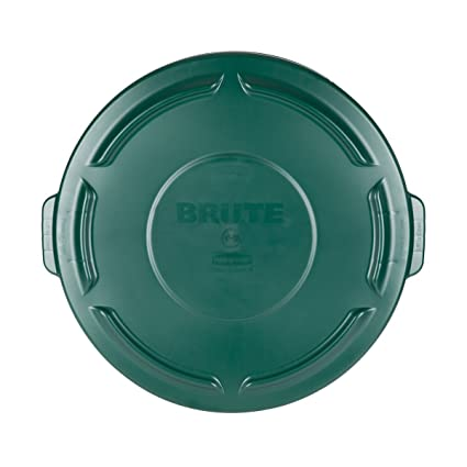 f949f542 Amazon.com: Brute 32 Gal. Green Round Vented Trash Can Lid Case of 6 ...