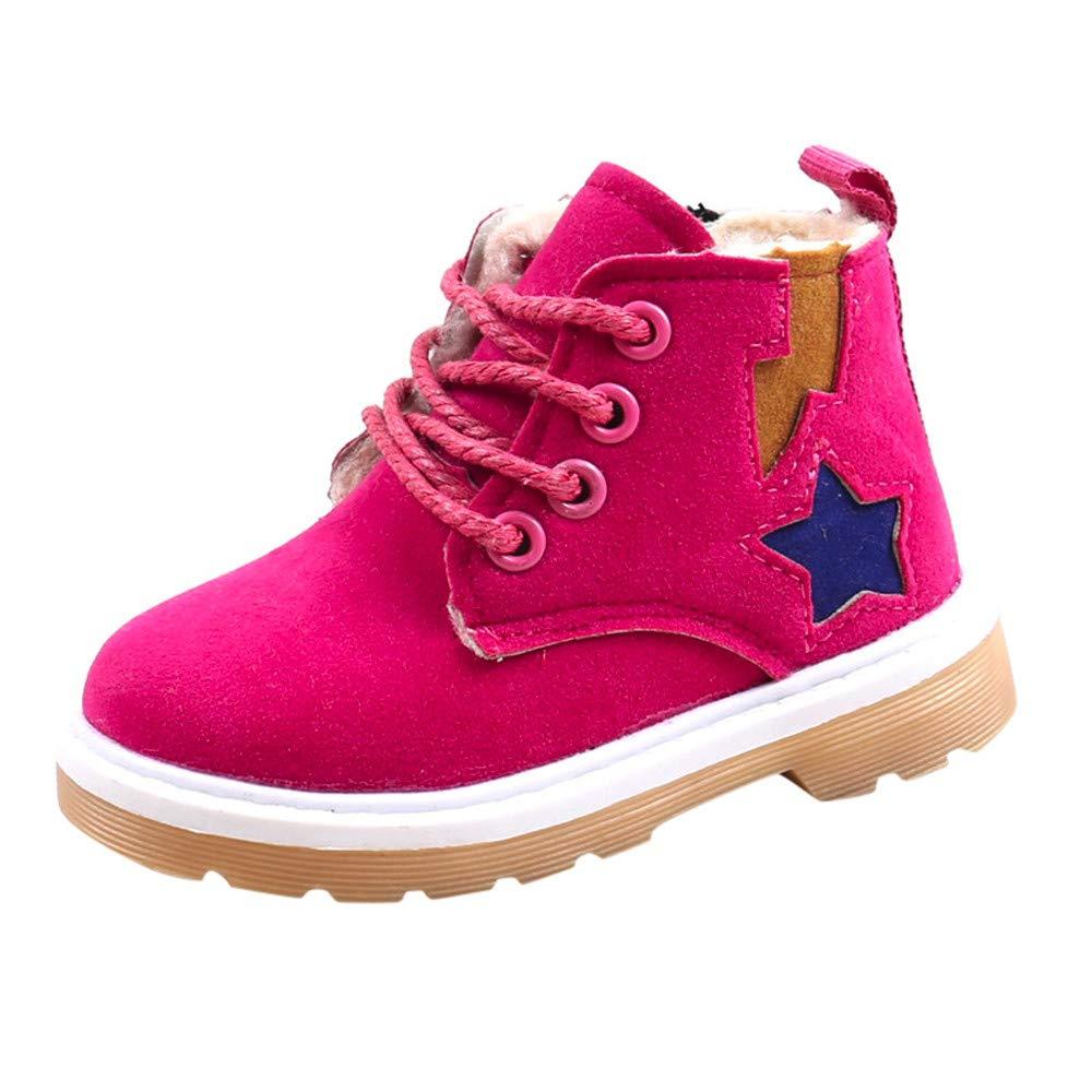 ❤️ Botas de Terciopelo para bebé, bebé niños Warm Boys Girls Martin Sneaker Botas niños bebé Zapatos de Nieve Ocasionales Absolute