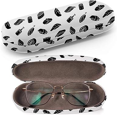 Funda rígida para gafas, estuche para gafas de sol, caja de plástico, con paño de limpieza (Silhouette Sushi Random On Light): Amazon.es: Ropa y accesorios