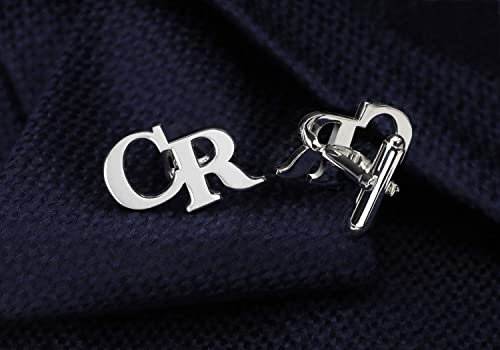 Monogram 925 Sterling Silver Cufflinks Custom Engraved Wedding Cufflinks NICKEL FREE Personalized Cufflinks Groom Cufflinks