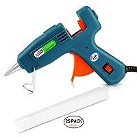 Glue Guns,Airsspu Mini Hot Melt Glue Gun with 25 Pieces Gule Sticks for DIY Arts, Hobby, Craft, Mini, Metal, Wood, Glass, Card, Fabric, Plastic, Ceramics, Heats up Quickly (20W)