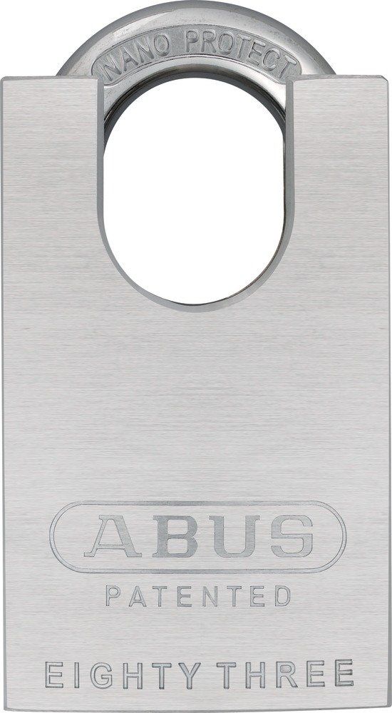 ABUS 83CS/55-300 S2 Schlage 55mm Rekeyable Padlock Solid Steel Chrome Plated Body, 1.4375-Inch Closed Shackle, Zero-Bitted by ABUS