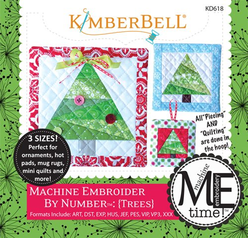 Tree Embroidery Design - Kimberbell Embroider by Number Tree Machine Embroidery CD KD618