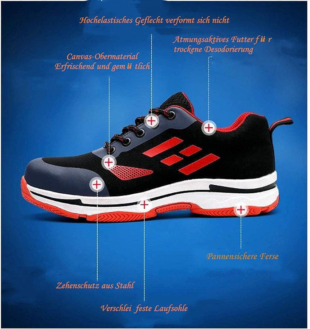 Sicherheitsschuhe M/änner und Frauen Arbeitsschuhe S3 Stahlkappe Turnschuhe Outdoor-Schuhe Unisex leichte Sport atmungsaktive Schutzschuhe