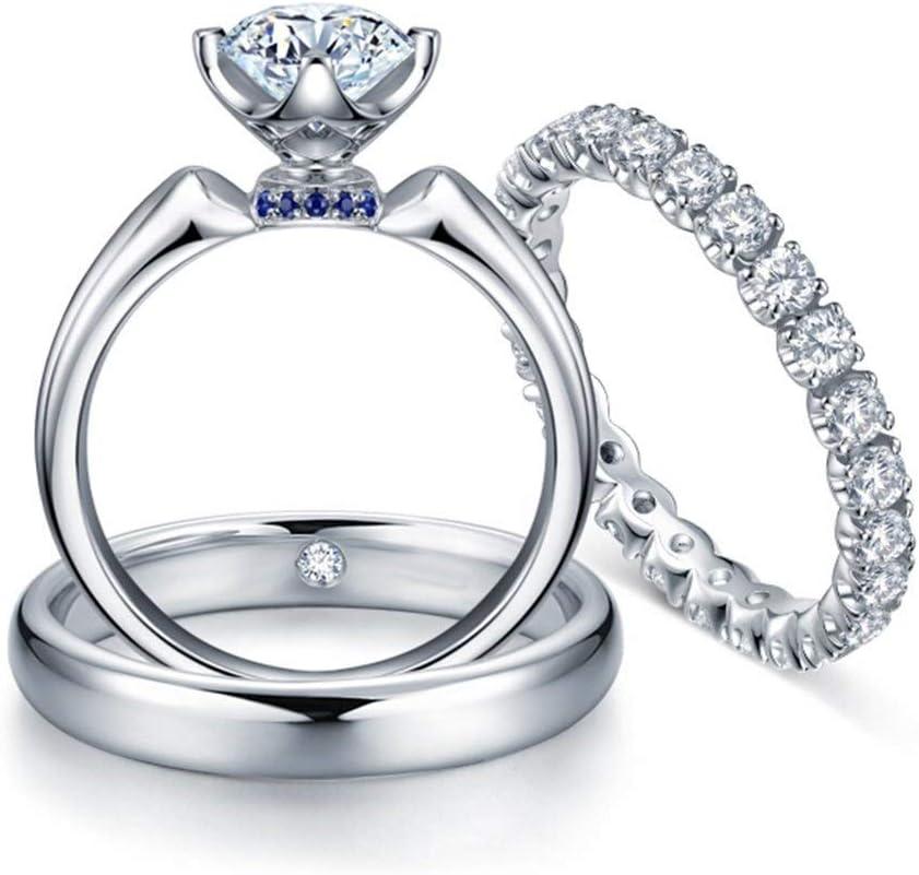 Collar de Moda para Mujer 9K Zafiro de Oro Joya de Diamantes Anillos de Compromiso de Novia Blanco for los Hombres y Mujeres Modelos de Pareja Traje (0.599Ktw, de Color G-H, VS-SI1 claridad), el Tipo
