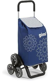 Gimi Tris Floral Carrito de compra, carro de compra para subir escaleras, seis ruedas