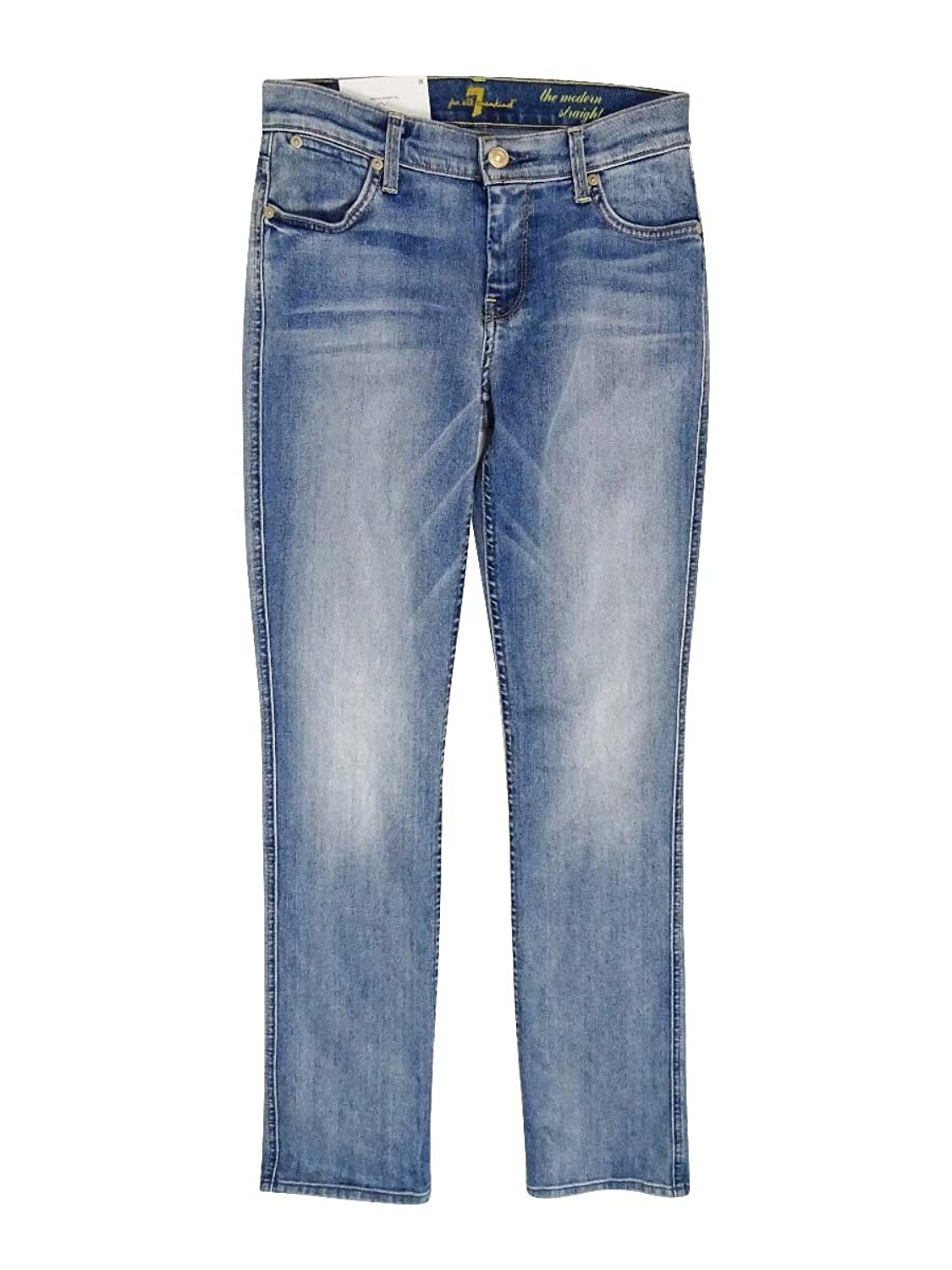7 For All Mankind Womens Distressed Mid-Rise Skinny Jeans