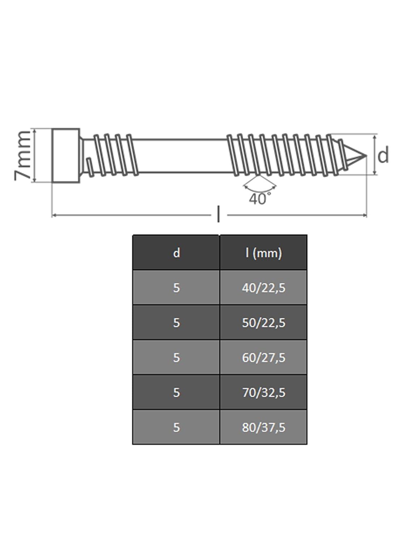 Terraza Tornillos Torx TX de 25/con Cut de punta y cortar muesca acero inoxidable A2/ 200/Unidades rosca madera opiol Quality tornillos cil/índricos redondo Terrazas Dise/ño