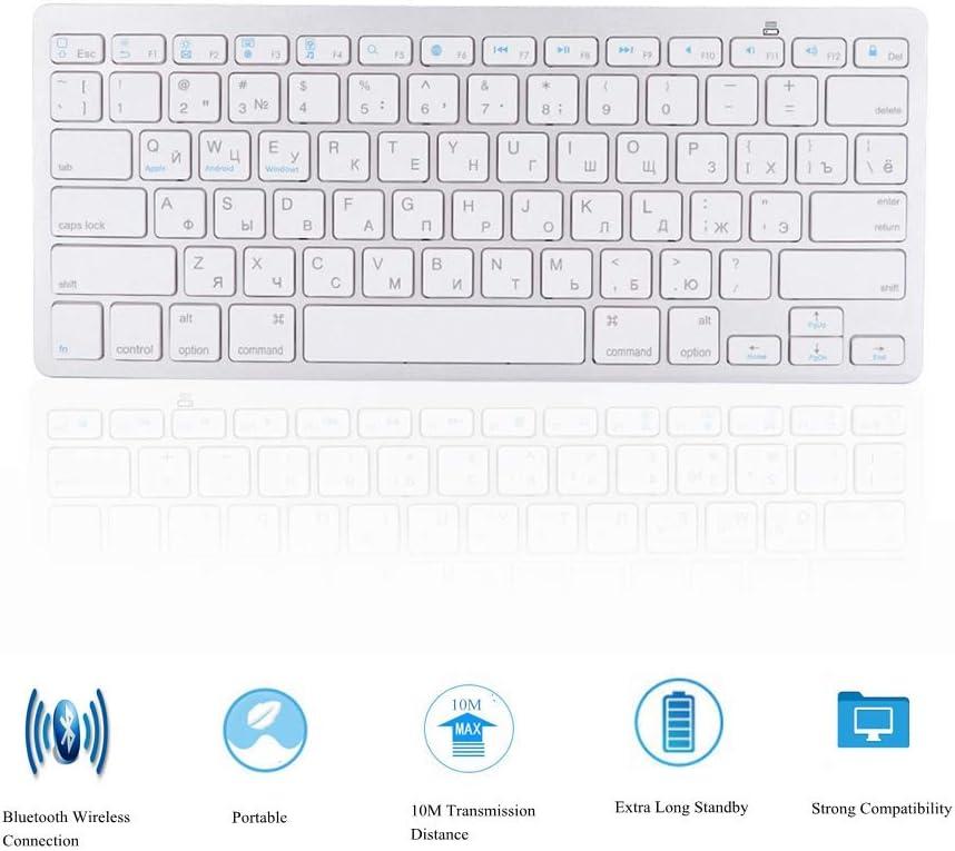 Wireless Bluetooth Keyboard Russian for Mac/Windows/Android, 78 Key Keyboard Wireless Keyboard Multi-Functional Ultra-Thin
