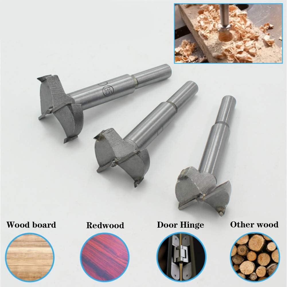 Xingsiyue Brocas Madera Set Brocas Forstner en aleaci/ón para madera Juego Broca fresadora Herramientas de DIY para agujero