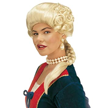 Blonde Mujer peluca Josephine Rubio Medieval barroco barroco peluca rococó peluca clásico mujer peluca Wig