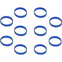 Hoerev in bianco silicone braccialetti carità Bracciali Bracciale in gomma sport bracciale, 10pcs