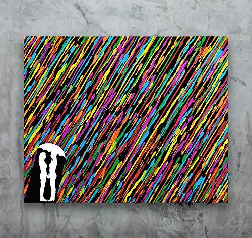 Melted Crayon Art Lesbian Girlfriend Gift Lesbian Wedding 16x20 Canvas Art