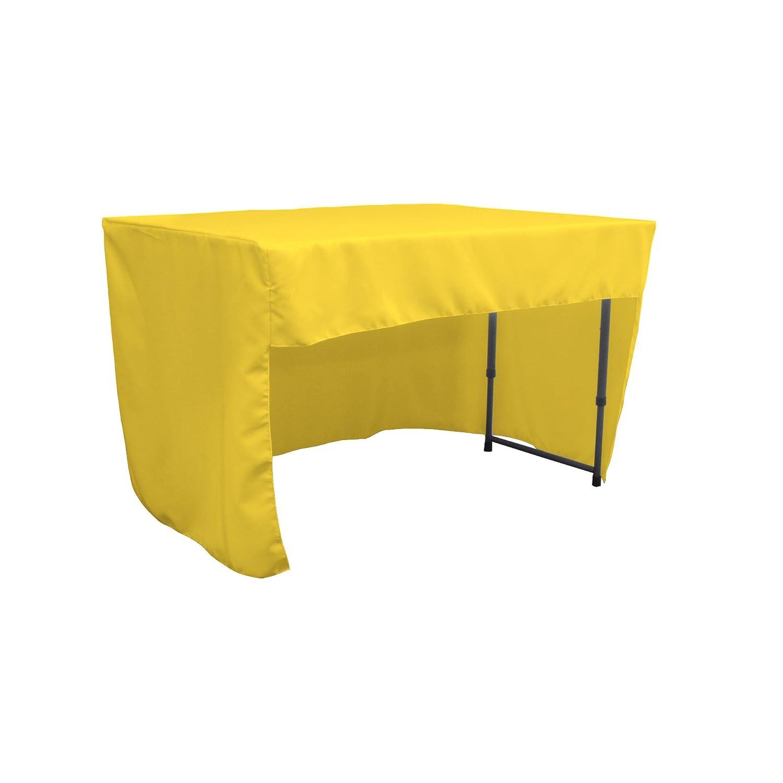 LA Linen Open Back Polyester Poplin Fitted Tablecloth 48 L x 24 W x 30 H Light Gray TCpop/_OB/_fit/_48x24x30/_GrayLgtP41