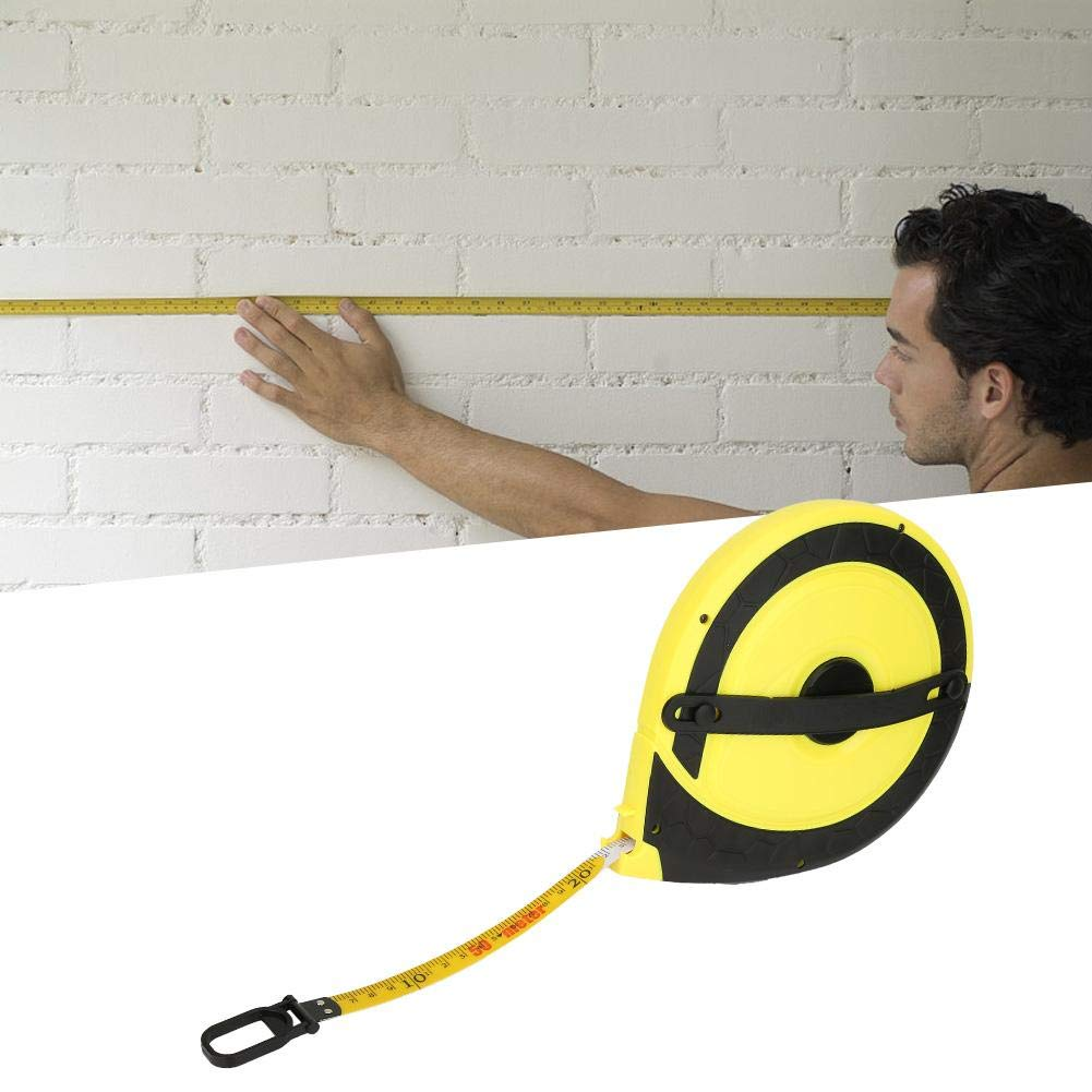 Outil de mesure darpentage de b/âtiment de m/ètre ruban en fibre de verre de 50m