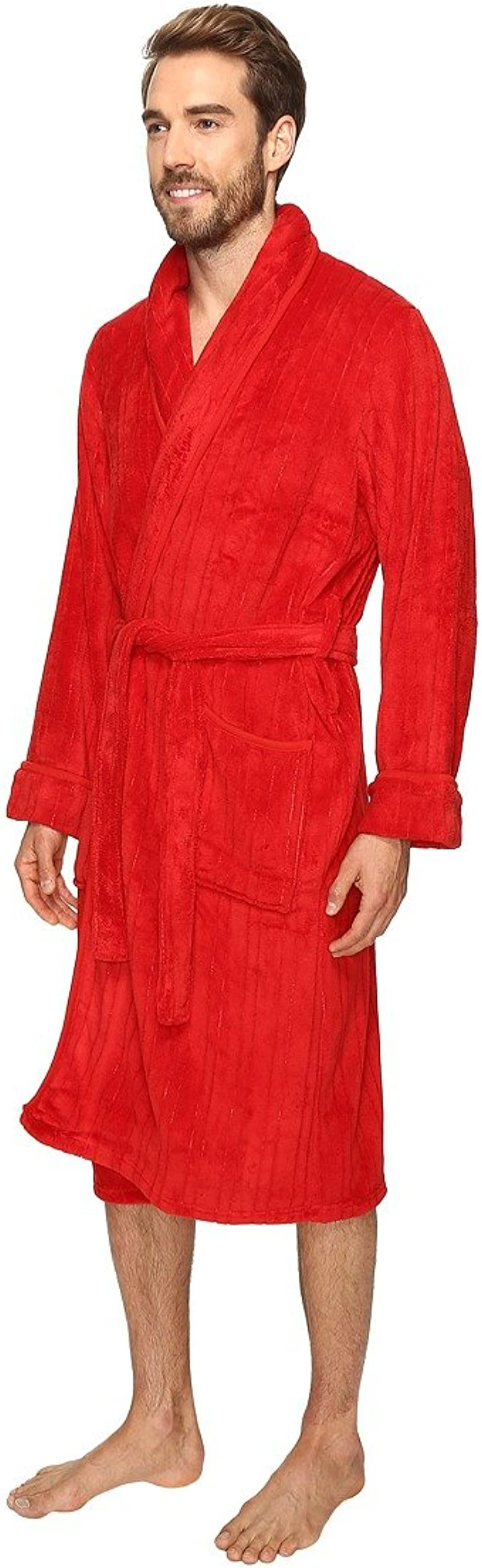 Jockey Mens Sculpted Comfort Soft Robe Red One Size Jockey Men/'s Sleepwear 2512107JY