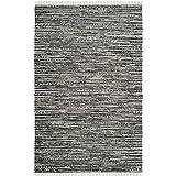 Cheap Safavieh Rag Rug Collection RAR128A Hand Woven Grey Cotton Area Rug (6′ x 9′)