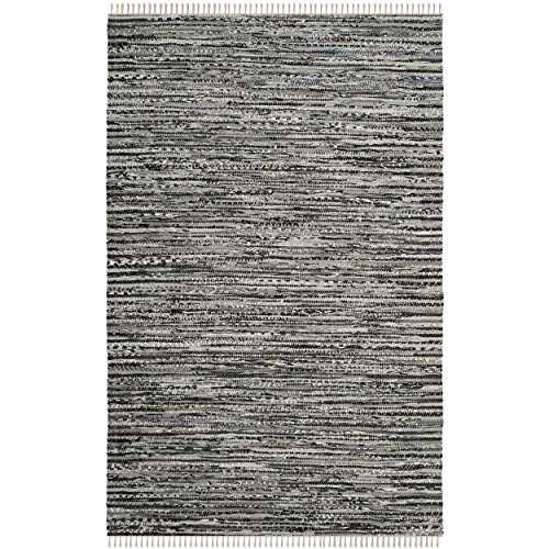 Cheap Safavieh Rag Rug Collection RAR128A Hand Woven Grey Cotton Area Rug (6′ x 9′)
