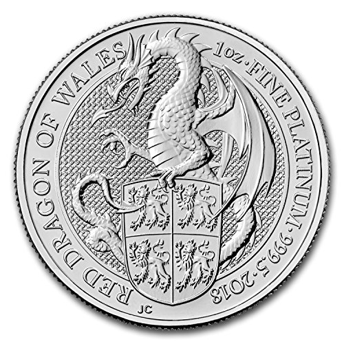 2018 UK Great Britain 1 oz Platinum Queen's Beasts The Dragon 1 OZ Brilliant Uncirculated