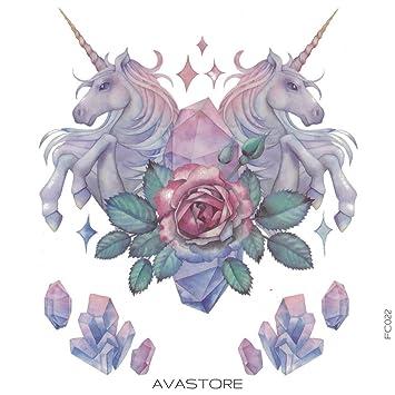 Tatuaje Temporal unicornio tatuaje efímero unicornio – avastore ...