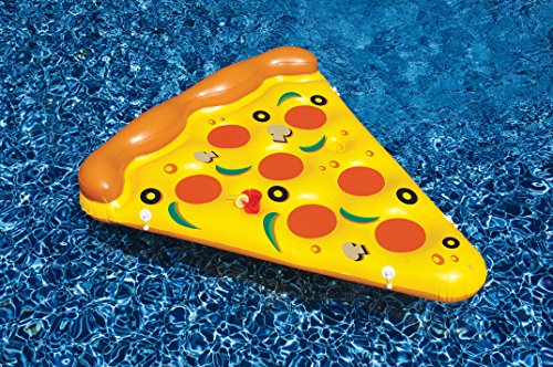 Pepperoni Pizza Slice - Swimline Inflatable Pizza Slice Pool Float
