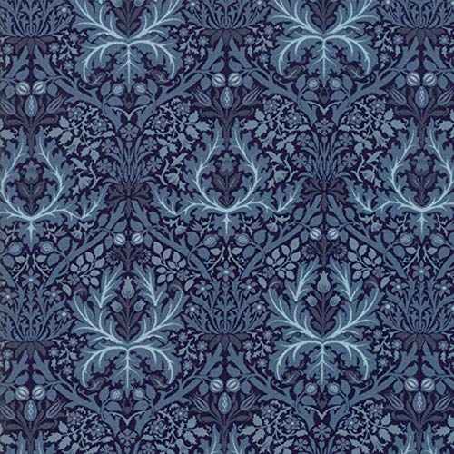 - Moda Fabrics V and A Morris Garden Indigo Autumn Flower 1888