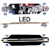 FunTomia Longboard / Érable canadien 9 Plis / charge max 110 kg / Roues 70x51mm / Roulements Planche à roulettes Mach1