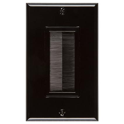 Pleasing Amazon Com Buyers Point Brush Wall Plate Ul Listed Decora Style Wiring 101 Tzicihahutechinfo