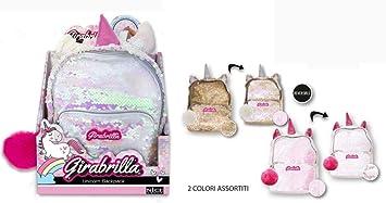 gamma completa di articoli designer nuovo e usato nuova collezione Nice- Zainetto Mini Backpack Girabrilla Unicorno-1 pz, Colore, 02530