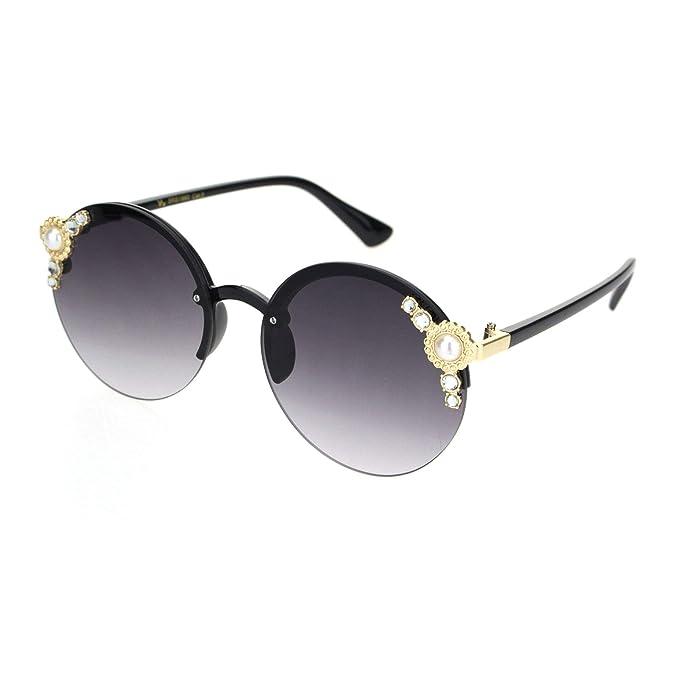 Amazon.com: Gafas de sol redondas sin borde para mujer con ...