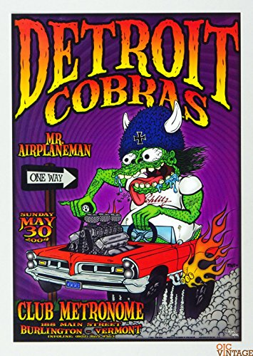 Detroit Cobras Poster 2004 May 30 Club Metronome w/Mr Airplaneman Chris Shaw