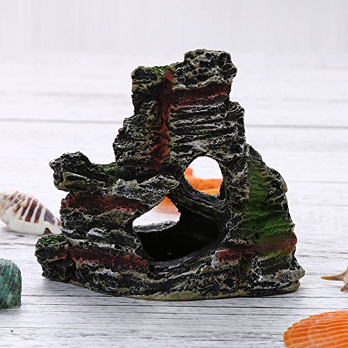 Amazon.com: Aquarium Chinese Mountain View Aquarium Rockery Fish Hiding Cave Tree Fish Tank Ornament Decoration,By Gbell: Clothing