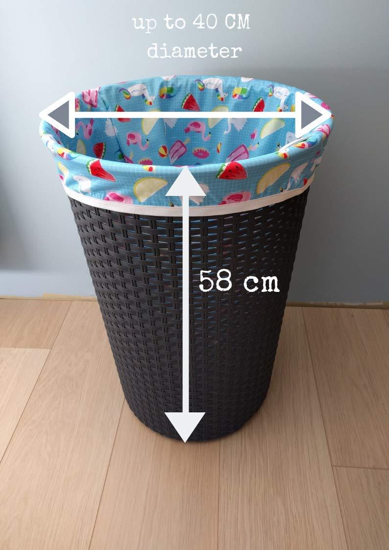 Lilypoppy Gro/ße wasserdichte Windeleimer oder W/äschekorbeinlage oder gro/ße Nasstasche f/ür Stoffwindeln oder schmutzige W/äsche