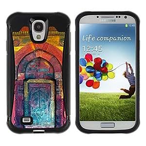 Suave TPU GEL Carcasa Funda Silicona Blando Estuche Caso de protección (para) Samsung Galaxy S4 IV I9500 / CECELL Phone case / / Kuli Paint Teal Purple Building Door /