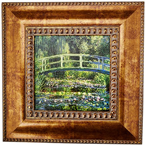 Design Toscano Bridge over a Pond of Water Lilies, 1899: Canvas Replica Painting: - Pond Bridge Over