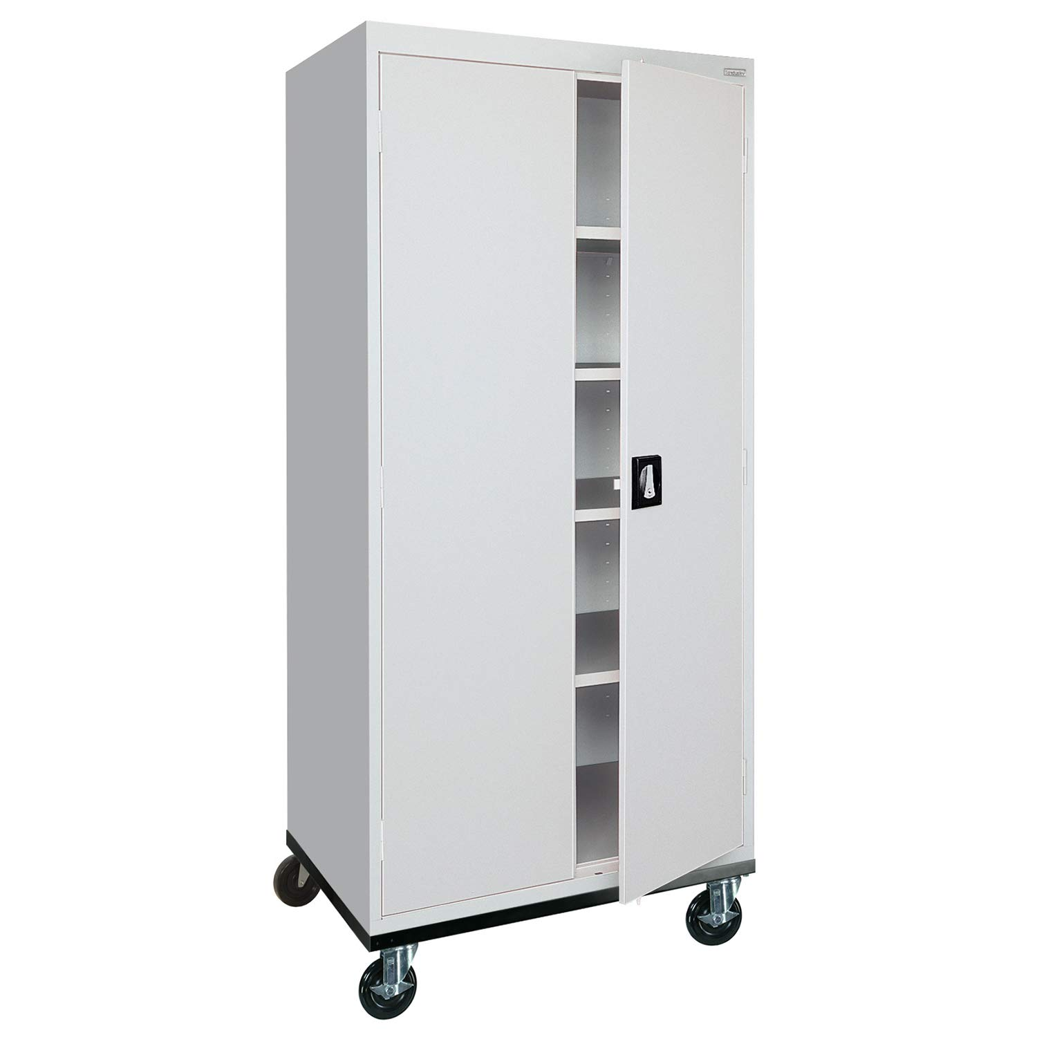 Sandusky Lee Transport Series Mobile Storage Cabinet, Dove Gray
