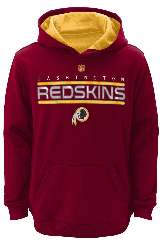 ワシントンレッドスキンズYouth NFL Reflect」プルオーバーフード付きパフォーマンススウェットシャツ Medium  B00MZEX9G6