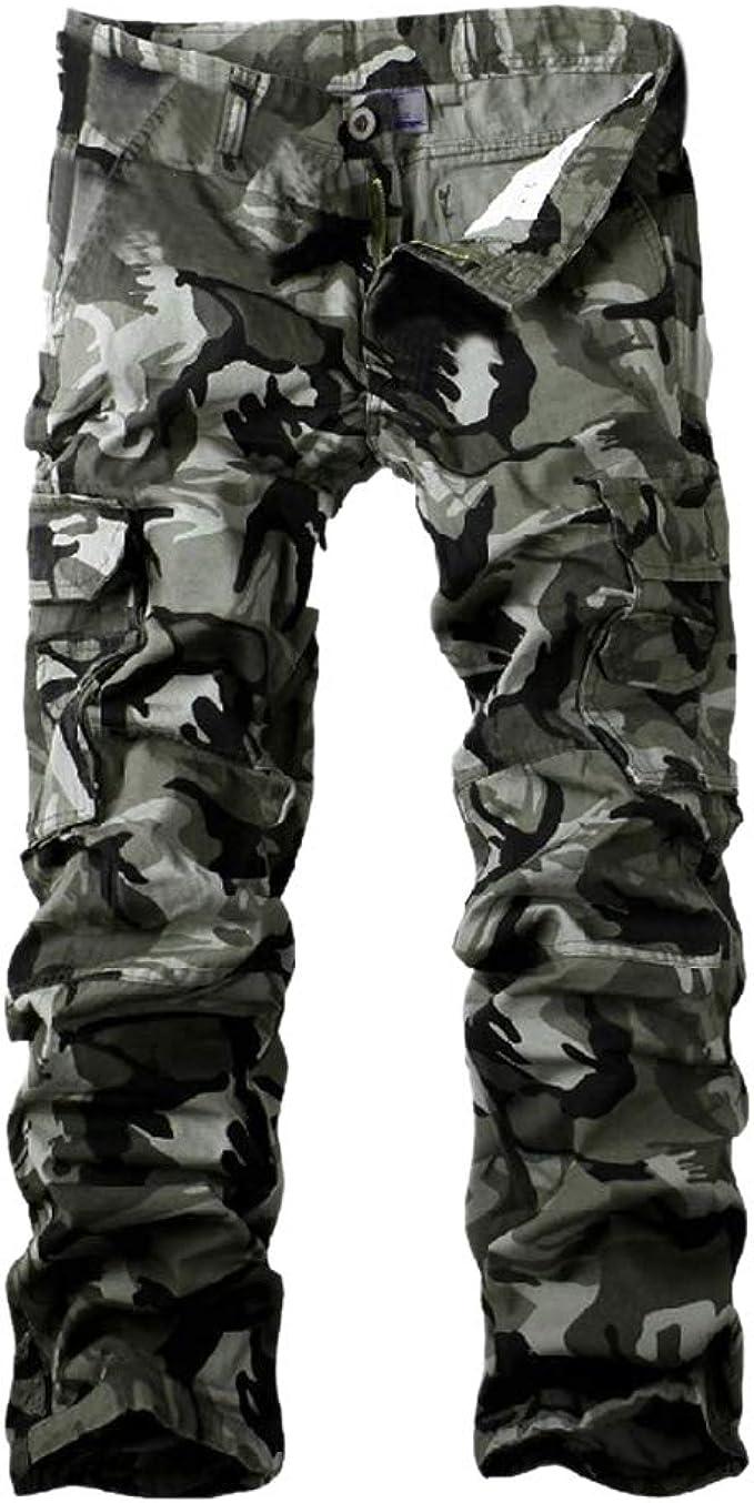 Amato Pantaloni Mimetici Cargo Uomo con Tasche Laterali Pantaloni MM17