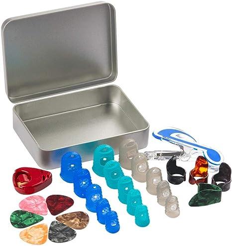 Kit de CCMART con protectores de dedo de silicona para guitarras ...