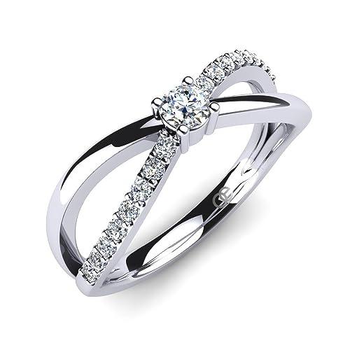 Moncoeur Damen-Ring Orchidee 925 Sterlingsilber Swarovski Kristalle