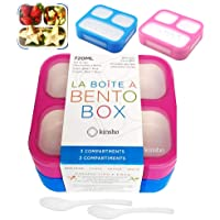 Bento Box for Kids, Toddler Lunch-Box for Small Boys Girls in School, Pre-School or Daycare, Leakproof 3 Compartment…