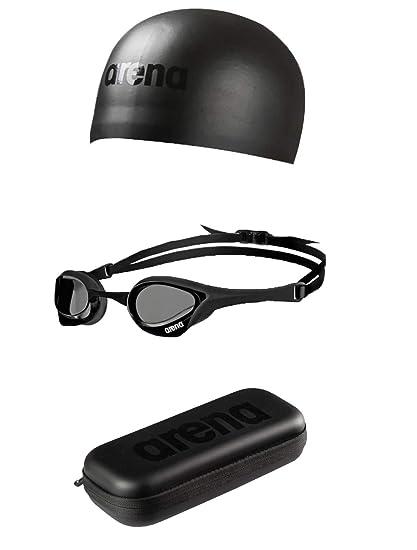 8bf907a7dc398 Amazon.com   arena Cobra Ultra Racing Kit - Triple Black   Sports ...