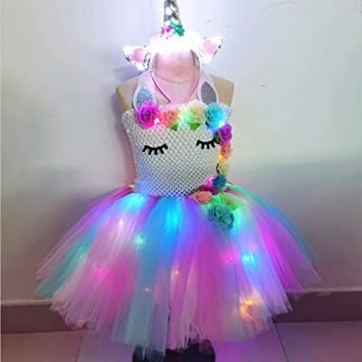 bDDeDD Unicorn Dress for Girls Unicorn Costumes Party TuTu Dress Birthday Outfit Photography Dress